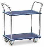 FETRA - 3112 - All-steel trolley, 2 shelves, 120 kg, 740 x 480 mm, WL43497