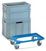 FETRA - 13590 - Euro box roller, plastic, 250 kg, 605 x 405 mm, WL39838