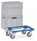FETRA - 13580 - Euro box roller, steel, 250 kg, 605 x 405 mm, WL39837