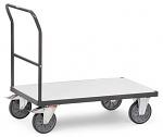 FETRA - 9500 - ESD push handle trolley, 1 shelf, 500 kg, 850 x 500 mm, WL34205