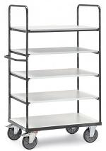 FETRA - 9341 - ESD shelf trolley, 5 shelves, 1800 mm height, 600 kg, 1000 x 600 mm, WL34231