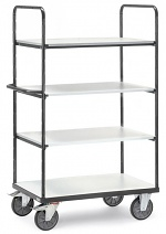 FETRA - 9301 - ESD shelf trolley, 4 shelves, 1800 mm height, 600 kg, 1000 x 600 mm, WL34228