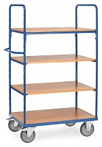 FETRA - 8301 - Shelf trolley, 4 shelves, 1800 mm height, 600 kg, 1000 x 600 mm, WL39829