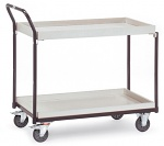 FETRA - 1870 - ESD table trolley, 2 boxes, 300 kg, 850 x 500 mm, WL34220