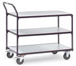 FETRA - 1850 - ESD table trolley, 3 shelves, 300 kg, 850 x 500 mm, WL34216