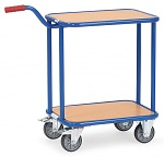 FETRA - 1164 - Handle roller, 2 wooden shelves, 250 kg, 600 x 450 mm, WL39801