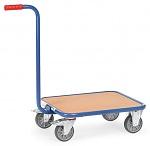 FETRA - 1161 - Handle roller, 1 wooden shelf, 250 kg, 600 x 500 mm, WL39800