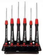 WIHA - 00503 - Fine screwdriver set, PicoFinish 260 PF K6 SATZ 6-piece, slot/PH, with holder, WL41276