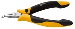WIHA - 26802 - Flat round nose pliers, Professional ESD Z 36 1 04 120mm Pro, for ESD, chain nose pliers, 45°bent, WL34418