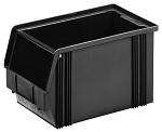WEZ - 3520.200. - ESD-Sichtlagerkasten, schwarz 350 x 200 x 200 mm, WL35711