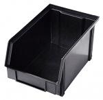 WEZ - 2314.125. - ESD-Sichtlagerkasten, schwarz 235 x 145 x 125 mm, WL33949