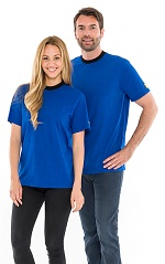 SAFEGUARD - SafeGuard ESD - ESD T-Shirt round neck royal blue, with black collar, 150g/m², XS, WL31970