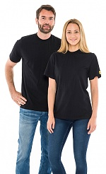 SAFEGUARD - SafeGuard ESD - ESD T-Shirt round neck black, 150g/m², XS, WL31979