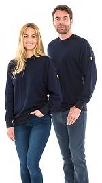 SAFEGUARD - SafeGuard ESD - ESD sweatshirt round neck, navy blue 280g/m², XS, WL43763