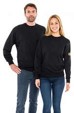 SAFEGUARD - SafeGuard ESD - ESD sweatshirt round neck, black 280g/m², XS, WL43772