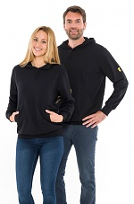 SAFEGUARD - SafeGuard ESD - ESD Hooded Sweatshirt, black 280g/m², XS, WL43808