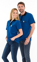 SAFEGUARD - Safeguard PRO PLUS - ESD polo shirt 210g/m² royal blue/black, XS, WL31934