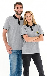 SAFEGUARD - Safeguard PRO PLUS - ESD polo shirt 210g/m² light grey/black, XS, WL31925