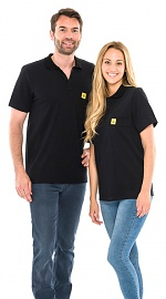 SAFEGUARD - Safeguard PRO PLUS - ESD polo shirt 210g/m² black, XS, WL31943