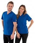 SAFEGUARD - SafeGuard PRO - ESD T-Shirt V-neck blue, breast pocket, 150g/m², XS, WL44677