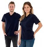SAFEGUARD - SafeGuard PRO - ESD T-Shirt V-neck blue, breast pocket, 150g/m², XS, WL44559