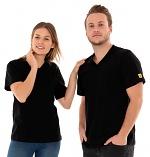 SAFEGUARD - SafeGuard PRO - ESD T-Shirt V-neck black, breast pocket, 150g/m², XS, WL44659