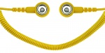SAFEGUARD - SAFEGUARD ESD - ESD spiral cable, 1 Mohm, yellow, 1,8 m, 10/10 mm push button, WL42062