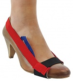 SAFEGUARD - SAFEGUARD ESD - ESD heel strap with plastic buckle, adjustable, red, WL32795