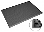 SAFEGUARD - Safeguard ESD - ESD Bodenmatte schwarz, flache Noppen, 650 x 950 x 14 mm, WL43020