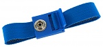 SAFEGUARD - 2050.750.10 - ESD wrist strap light blue, 10 mm snap fastener, toothed clasp, WL19751