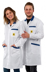 SAFEGUARD - Pro Line - 3XS - white/blue - ESD Workcoat Pro Line, white/blue, 3XS, WL42410