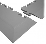 ECOTILE - E59.220 - PVC corner ramp, dark grey, 10 mm > 1 mm, 590 x 70 mm, WL41927