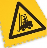 ECOTILE - 13.234 - floor marking tile with logo forklift, black/yellow, 500x500 mm, WL41965