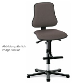 BIMOS - 9213-6802 - Solitec 3 work chair, with glider and climbing aid, fabric upholstery blue, WL40224