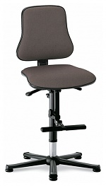 BIMOS - 9213-6811 - Solitec 3 work chair, with glider and climbing aid, fabric upholstery grey, WL40225