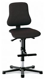 BIMOS - 9213-6801 - Solitec 3 work chair, with glider and climbing aid, fabric upholstery black, WL40223