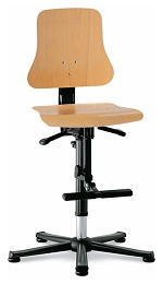 BIMOS - 9213-3000 - Solitec 3 work chair, with glider and climbing aid, beech plywood, WL40222
