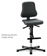 BIMOS - 9213-6911 - Solitec 3 work chair, with glider and climbing aid, imitation leather grey, WL40229