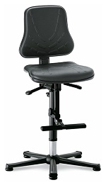 BIMOS - 9213-2571 - Solitec 3 work chair, with glider and climbing aid, imitation leather black, WL40227