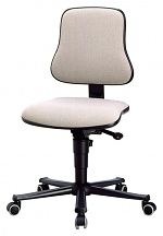 BIMOS - 9208-6811 - Solitec 2 work chair with castors, fabric upholstery grey, WL40215