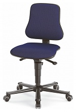 BIMOS - 9208-6802 - Solitec 2 work chair with castors, fabric upholstery blue, WL40214