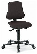 BIMOS - 9208-6801 - Solitec 2 work chair with castors, fabric upholstery black, WL40213