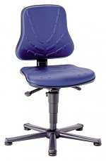BIMOS - 9203-6902 - Solitec 1 work chair with glider, imitation leather blue, WL40208
