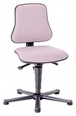 BIMOS - 9203-6811 - Solitec 1 work chair with glider, fabric upholstery grey, WL40205