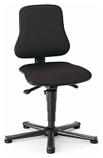 BIMOS - 9203-6801 - Solitec 1 work chair with glider, fabric upholstery black, WL40203