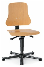 BIMOS - 9203-3000 - Solitec 1 work chair with glider, beech plywood, WL40202