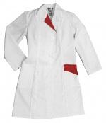 HB SCHUTZBEKLEIDUNG - 08005 48028 001 2004 - ESD work coat CONDUCTEX, short sleeve, women, white/blue, XS, WL28986