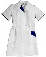HB SCHUTZBEKLEIDUNG - 08005 48027 001 2003 - ESD work coat CONDUCTEX, short sleeve, women, white/blue, XS, WL28038
