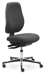 SAFEGUARD - IS 2087_ESD 044033 044033 V11 – E76-ROLLEN - ESD Chair Tec classic castors, upholstered black - SafeGuard Edition, WL46438