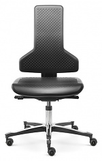 SAFEGUARD - IS 2011_CLR AB PUSGS V12 – E76-ROLLEN - Cleanroom chair Tec profile, castors, PU pad, inclination -12° - SafeGuard Edition, WL46442
